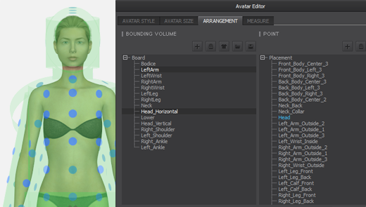 Avatar Bounding Volumes + Arrangement Points in the Avatar Editor