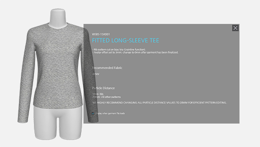Garment Descriptions for Project Files