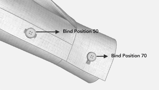 Buttonhole Bind Position