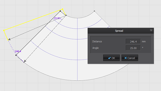 Slash & Spread Angle and Distance Input