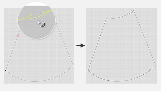 Create Smooth Curve Replace as Pattern Outline
