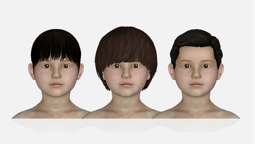 Hair Options for Kid Avatar