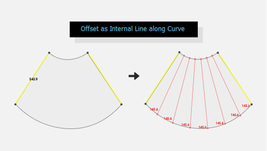 Offset as Internal Line along Slope