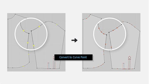 Convert Multiple Segments Points to Curve Points