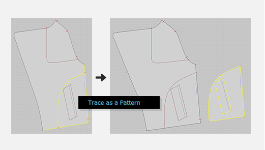 Copy Patterns, Internal Lines and Baselines